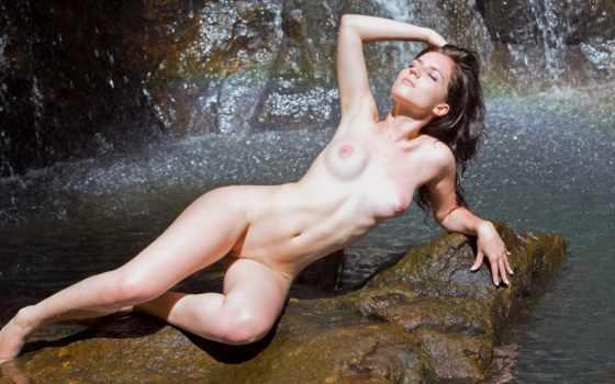 aurea, эротика, femjoy, водопад, обнаженная, gallery, nudes,