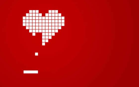red, сердце, кубики,