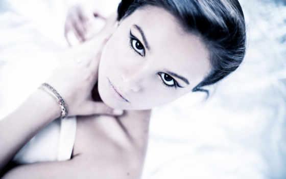full, глаза, девушка, плакат, art, women, faces, модель, востока,