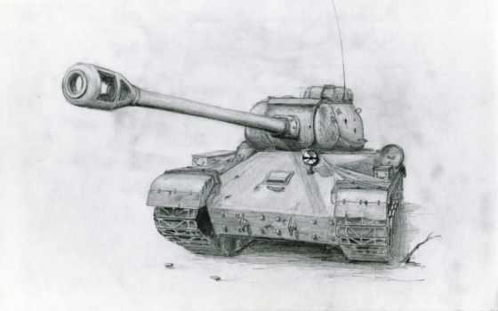 танк, рисунок, soviet