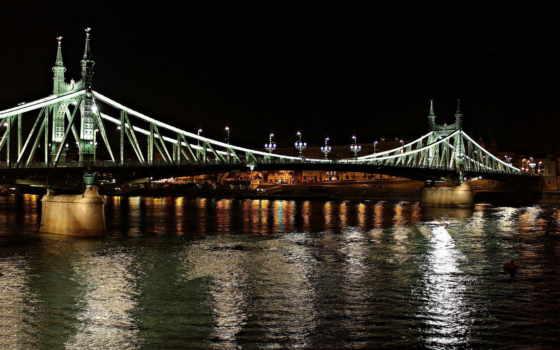 мост, bus, город