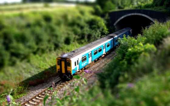 туннель, поезд, into, goes,