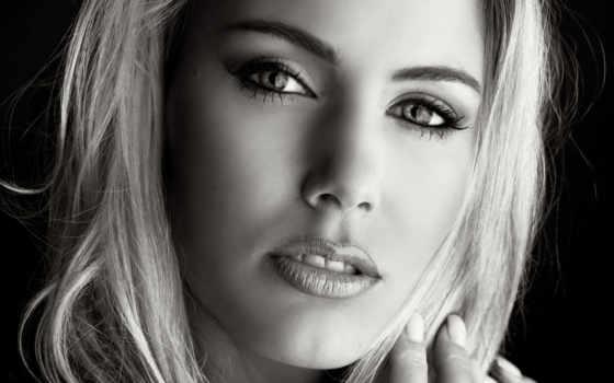 чёрно, белое, лицо, devushki, девушек, белые, красивые, клипарты,