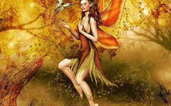 крыльями, бабочки, девушка, fantasy,