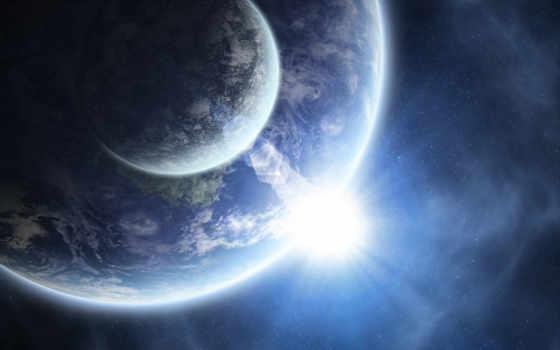 земля, луна, восход