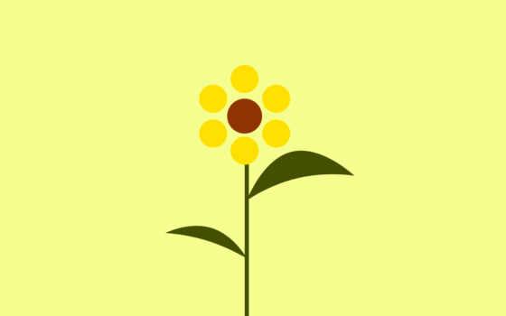 , цветок, рисунок, желтый,