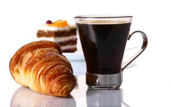 coffee, круассаны, cup, торт, еда,