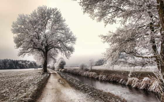 пруд, winter, free, страница, материалов, картинка, бесплатные, parede,