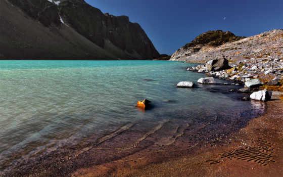 озеро, берег, камни