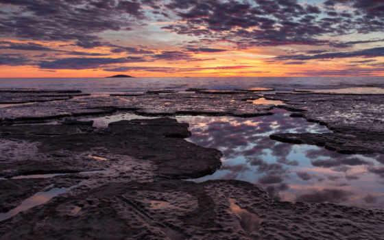 ocean, скалы, nhiên, thiên, рассвет, берег, hành, пляж,