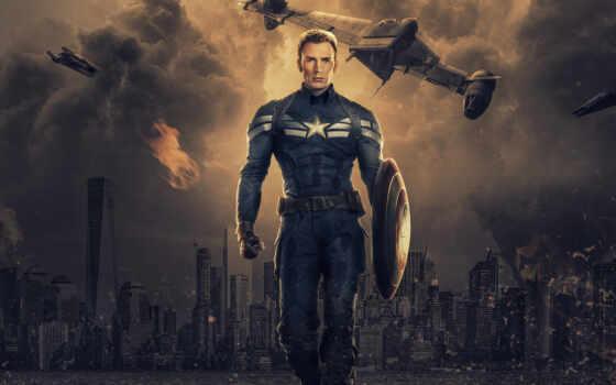 captain, america, marvel, chris, эван, avenger