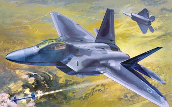 academy, raptor, самолеты, рисованные, масштаб, авиация, истребитель, kit, air,