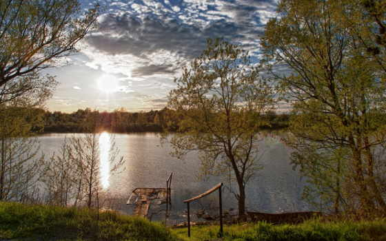 весна, природа, река
