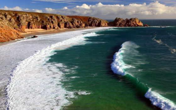 пляж, побережье, море, ocean, oceans, небо, природа,