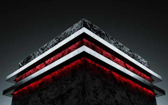 ,, красный, архитектура, структура, треугольник, небо, шрифт, графика, угол,, темнота, 4k resolution,