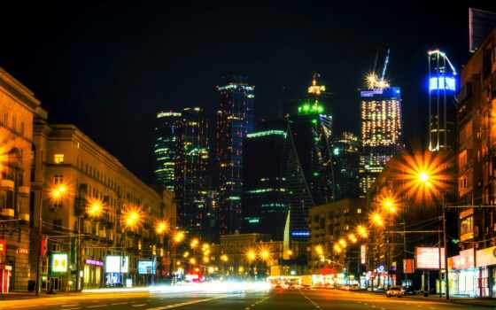москва, ночь, город, architecture, россия