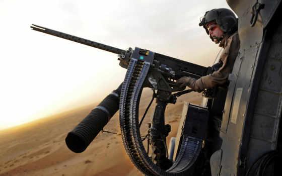 пулемет, оружие, вертолете