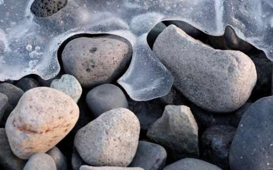 море, замёрзшее, камни, берег, макро, water, пляж, галька, фоны, лодка, пляже,