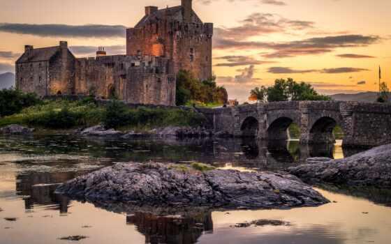 castle, eilean, донан, permission, water