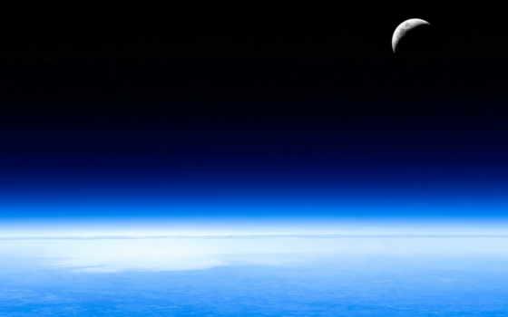 космос, небо, луна