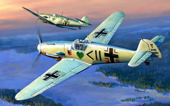 luftwaffe, мессершмитт, самолеты