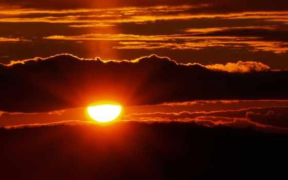 закат, sun, пейзажи