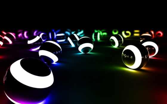 шарики, свет, abstract, vehiclehi, лампочка,