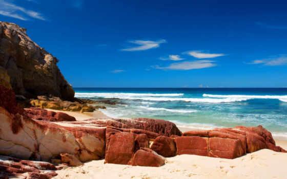 красивые, пейзажи -, water, фотографий, камни, природа, ocean, пляжи, берег,