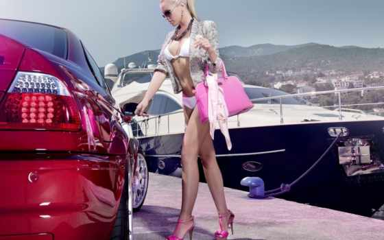 фотографий, авто, blonde, покупки, блондинок, девушка, автомобилей, спины, осень, shopping,