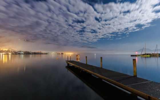 пирс, небо, вода, облако, синий, отражение, море, ночь, док, закат, восход солнца, сумерки, рассвет, солнечный свет, утро, вечер, cloudm new york bowery