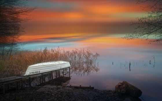 ,, небо, природа, природный ландшафт, Атмосферное явление, утро, red sky at morning, восход солнца, спокойный, вечер, горизонт,