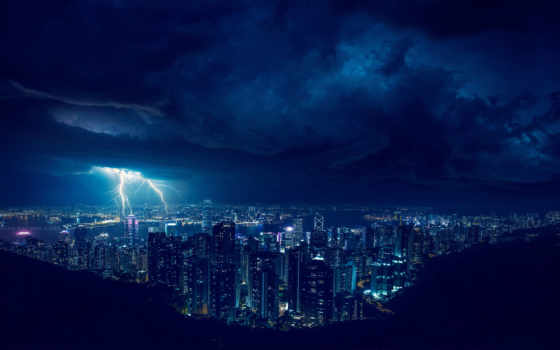 ,, небо, синий, облако, ночь, город, городской пейзаж, городской район, свет, населенный пункт, атмосфера,гроза