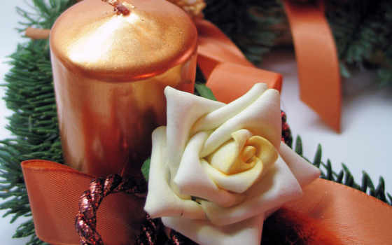 christmas, candle, rose, desktop, праздничная, часть, holiday, free, images, candles,