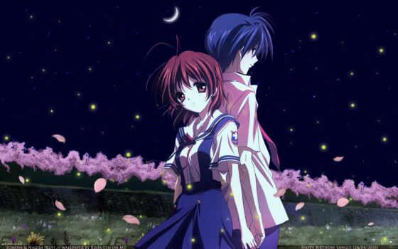 clannad, nagisa, tomoya, furukawa, okazaki, anime, луна, девушки, preview, photo, fans, with, guys, ночь,