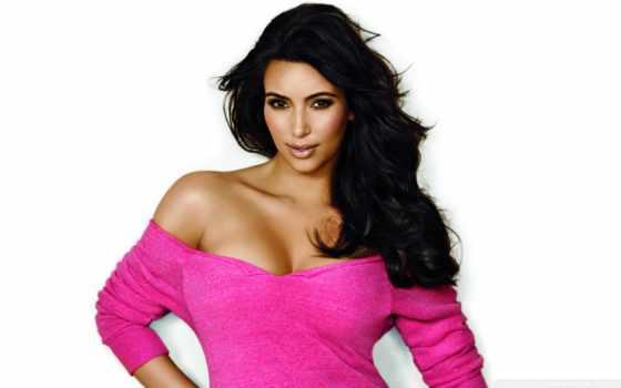 kim, kardashian, розовый