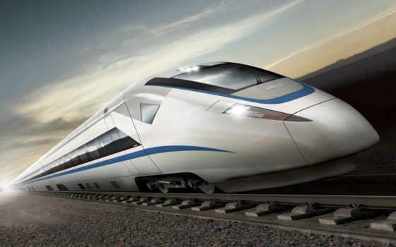 поезд, дорога, супер, поезда, лес, железная,