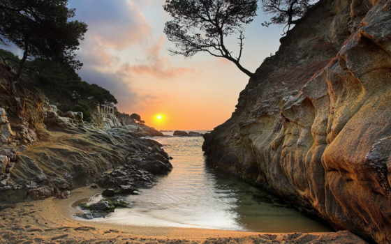 испании, моря, средиземного, north, природы, природа,