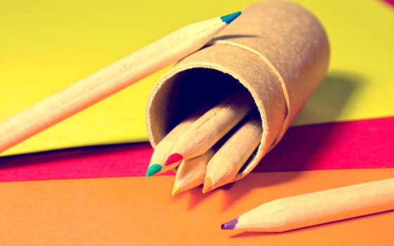 рисунки, фоновые, карандаши