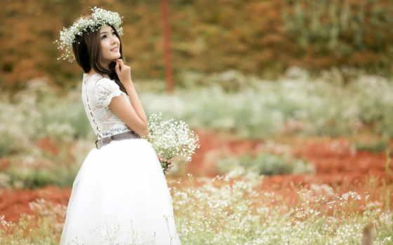 summer, девушка, цветы