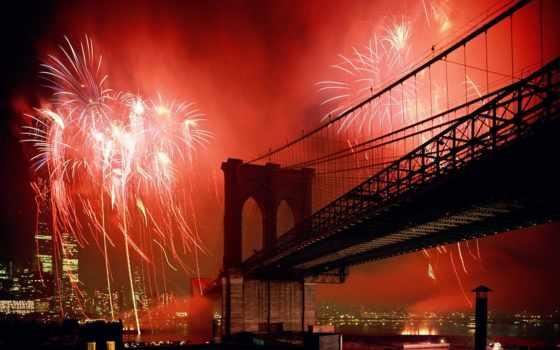 new, york, город, нью, мост, бруклин, банка, микс,