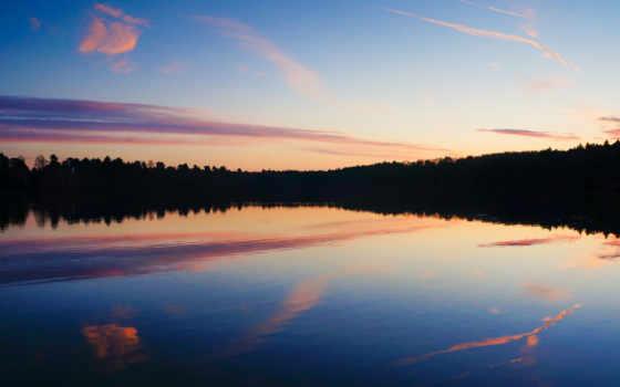 небо, природа, water