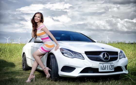 devushki, машина, девушка