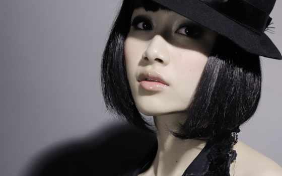 волосы, short, asian, women, black, hats, глаза, pale, korean,