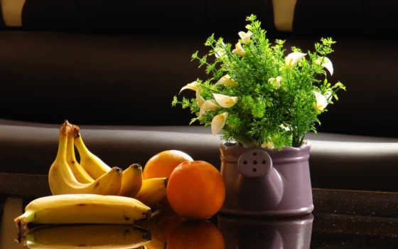 makan, pisang, натюрморт, sesuai, untuk, waktu, makanan