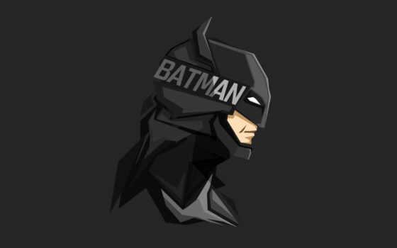 minimal, artwork, darkness, batman