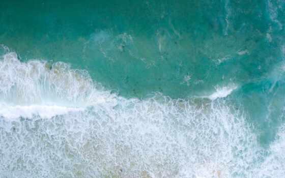 ток, вид, more, волна, сверху, море, voda, волна, ноутбук, unite, планшетный