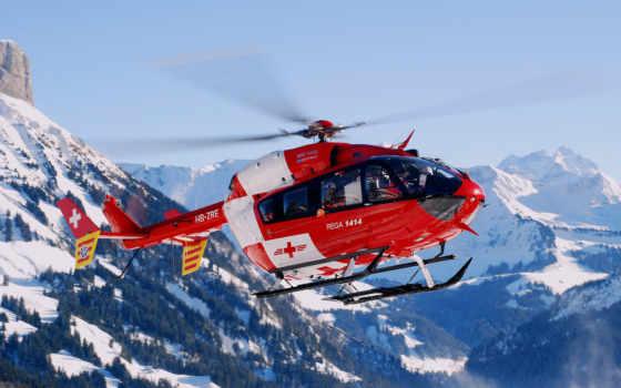 вертолеты, пазлы, гражданские, вертолет, kā,