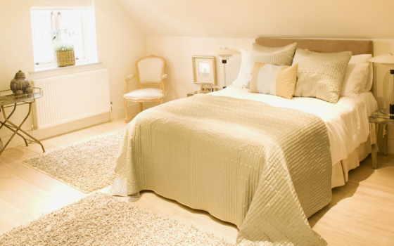 кровать, дек, светлая, домов,