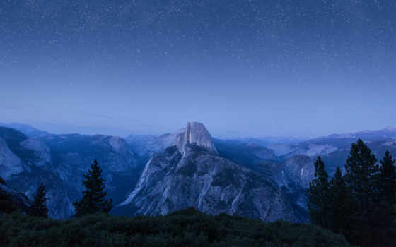 yosemite, capitan, park, half, national, dome, mac,