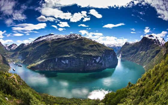 geiranger, река, fjord, панорама, норвегия, mac, desktop,
